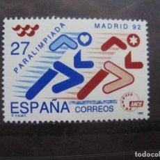 Sellos: -1992, PARALIMPIADA MADRID,92, EDIFIL 3220. Lote 214245471