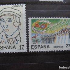 Sellos: -1992, EFEMERIDES, EDIFIL 3224/25. Lote 214245648