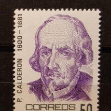Sellos: SELLO NUEVO. CENTENARIOS. PEDRO CALDERÓN DE LA BARCA (1600-1681). 10 MARZO 1982. EDIFIL Nº 2648.. Lote 214442512