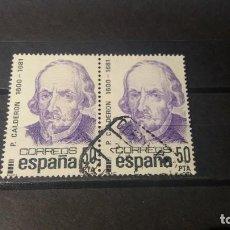 Sellos: SELLO USADO. CENTENARIOS. PEDRO CALDERÓN DE LA BARCA (1600-1681). 10 MARZO 1982. EDIFIL Nº 2648.. Lote 214442808