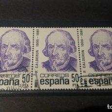 Sellos: SELLO USADO. CENTENARIOS. PEDRO CALDERÓN DE LA BARCA (1600-1681). 10 MARZO 1982. EDIFIL Nº 2648.. Lote 214442841