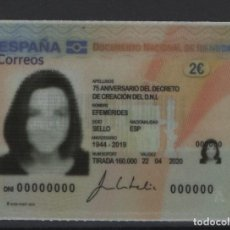 Sellos: R13/ ESPAÑA 2020, MNH**, EFEMERIDES, 75 ANIV. DEL DECRETO DE CREACION DEL D.N.I, AUTOADHESIVO. Lote 214453428
