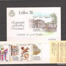 Sellos: SELLOS DE ESPAÑA AÑO 1985 HB NUEVA** Y CARNET. Lote 214570167