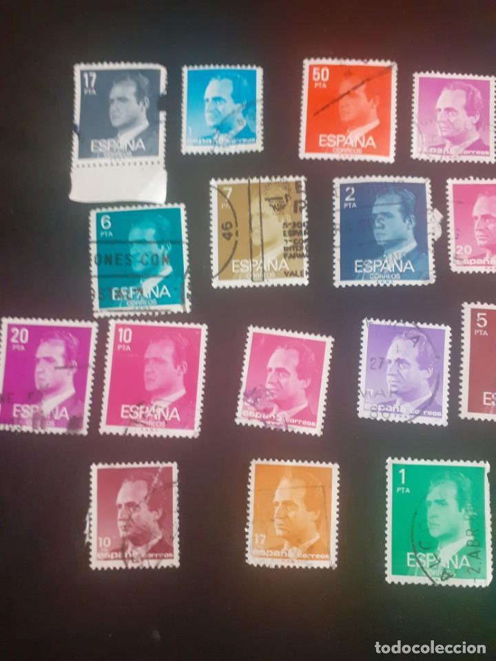 Sellos: lote de 23 sellos usados de Juan carlos I de diferentes años y valores - Foto 2 - 215334723