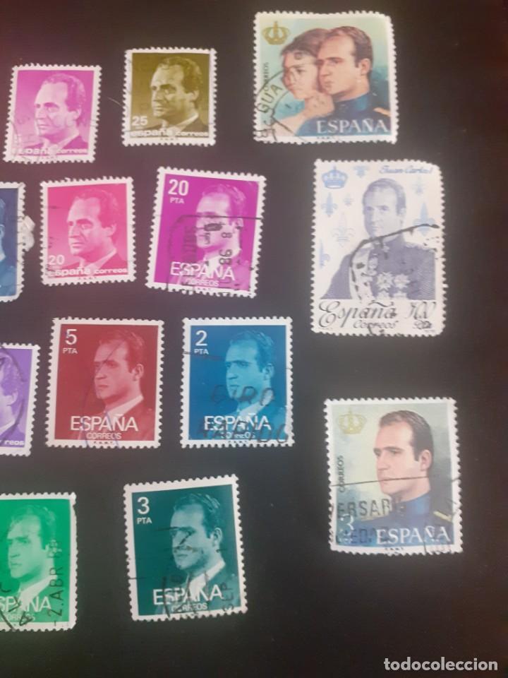 Sellos: lote de 23 sellos usados de Juan carlos I de diferentes años y valores - Foto 3 - 215334723