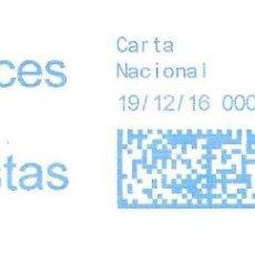 Sellos: SOBRE ENTERO. FRANQUEO MECANICO. IMPRONTA AZUL CARTELA: FELICES FIESTAS. Lote 215467313