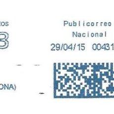 Sellos: SOBRE ENTERO. FRANQUEO MECANICO AZUL ENTIDAD COLABORADORA. IMPRONTA AZUL CARTELA: FORMATO 3.. Lote 215468517