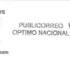 Sellos: SOBRE ENTERO. FRANQUEO MECANICO ENTIDAD COLABORADORA. IMPRONTA NEGRA CARTELA: A&D. Lote 215469911