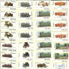 Sellos: 129 ATMS , CON EL NOMBRE DE LA OFICINA EXPENDEDORA , NUEVAS Y DIFERENTES , VALORES MÍNIMOS , ESPAÑA. Lote 215633386