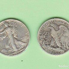 Sellos: PLATA-USA. 1/2 DOLLAR 1944. 12,5 GRAMOS DE LEY 0,900. KM#142. Lote 215701318