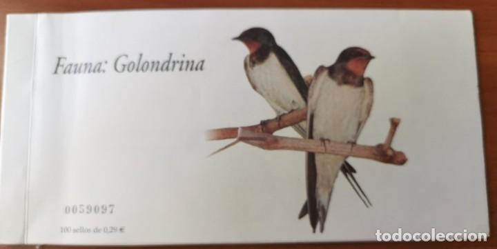 2006-ESPAÑA TALONARIO EDIFIL 4217C GOLONDRINA. CARNET INCOMPLETO CON 26 SELLOS FAUNA Y FLORA (Sellos - España - Juan Carlos I - Desde 2.000 - Nuevos)
