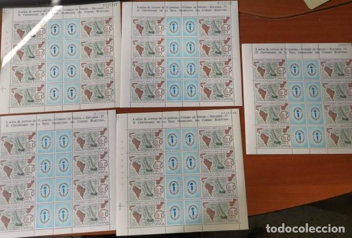 ESPAÑA ED2437 ESPAMER 77· 5 HOJAS - 40 SELLOS· NUMERACIÓN CORRELATIVA DE HOJAS POR PAREJAS. NUEVOS (Sellos - España - Juan Carlos I - Desde 1.975 a 1.985 - Nuevos)