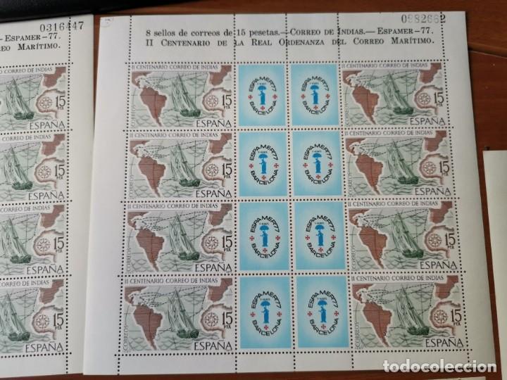 Sellos: ESPAÑA ED2437 ESPAMER 77· 5 HOJAS - 40 sellos· Numeración correlativa de hojas por parejas. nuevos - Foto 4 - 215821177