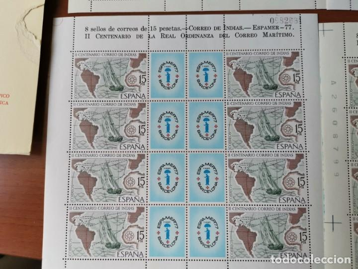 Sellos: ESPAÑA ED2437 ESPAMER 77· 5 HOJAS - 40 sellos· Numeración correlativa de hojas por parejas. nuevos - Foto 5 - 215821177
