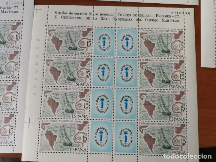 Sellos: ESPAÑA ED2437 ESPAMER 77· 5 HOJAS - 40 sellos· Numeración correlativa de hojas por parejas. nuevos - Foto 6 - 215821177