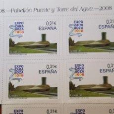 Sellos: ESPAÑA ED4391. AÑO 2008. HOJA CON 10 SELLOS ADHESIVOS EXPOSICION INTERNACIONAL EXPO ZARAGOZA.SIN USO. Lote 215825872