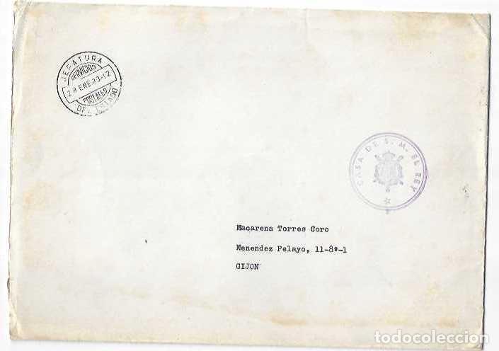 1983 FRANQUICIA CASA DE S.M. EL REY , JEFATURA DEL ESTADO , SERVICIOS POSTALES , FOTO FELIPE VI (Sellos - España - Juan Carlos I - Desde 1.975 a 1.985 - Cartas)