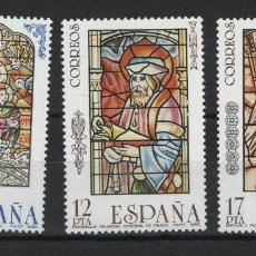Sellos: TV_001/ ESPAÑA 1985, EDIFIL 2815/17 MNH**, VIDRIERAS ARTISTICAS. Lote 216017905