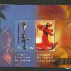 Sellos: 2.008-EMISION CONJUNTA HISPANO-IRLANDESA - HOJA DE IRLANDA. Lote 216449051