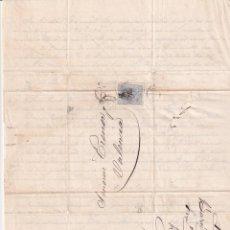 Sellos: PREFILATELIA L86 ENVUELTA Y CARTA 1873 DIRIGIDA A VALENCIA CON SELLO DE 10 CENT Y MATASELLOS. Lote 216460580