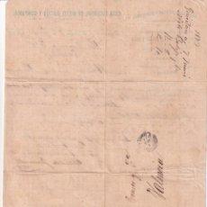 Sellos: PREFILATELIA L94 ENVUELTA Y CARTA 1873 DIRIGIDA A VALENCIA CON SELLO DE 10 CENT Y MATASELLO REJILL. Lote 216460928