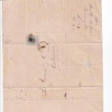 Sellos: PREFILATELIA L113 ENVUELTA Y CARTA 1873 DIRIGIDA A VALENCIA CON SELLO DE 10 CENT Y MATASELLO. Lote 216468980