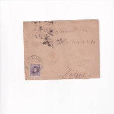 Sellos: PREFILATELIA L127 SOBRE 1906 DIRIGIDA A MADRID CON SELLO DE 15 CENT Y MATASELLO JADRAQUE. Lote 216470016