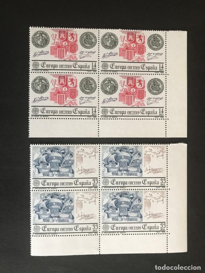 ESPAÑA 1982 EDIFIL 2657/8** MNH BLOQUE DE 4 (Sellos - España - Juan Carlos I - Desde 1.975 a 1.985 - Nuevos)