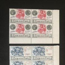 Sellos: ESPAÑA 1982 EDIFIL 2657/8** MNH BLOQUE DE 4. Lote 216508163