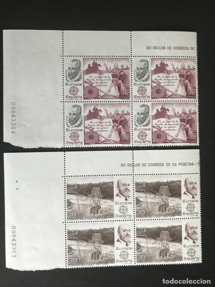ESPAÑA 1983 EDIFIL 2703/4** MNH BLOQUE DE 4 (Sellos - España - Juan Carlos I - Desde 1.975 a 1.985 - Nuevos)
