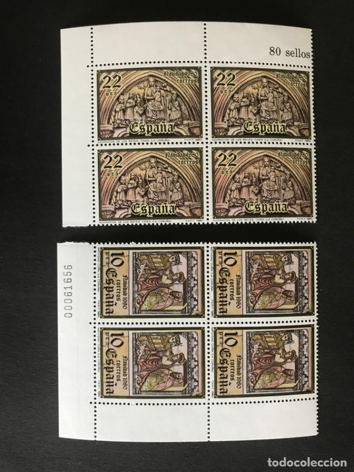 ESPAÑA 1980 EDIFIL 2593/4** MNH BLOQUE DE 4 (Sellos - España - Juan Carlos I - Desde 1.975 a 1.985 - Nuevos)