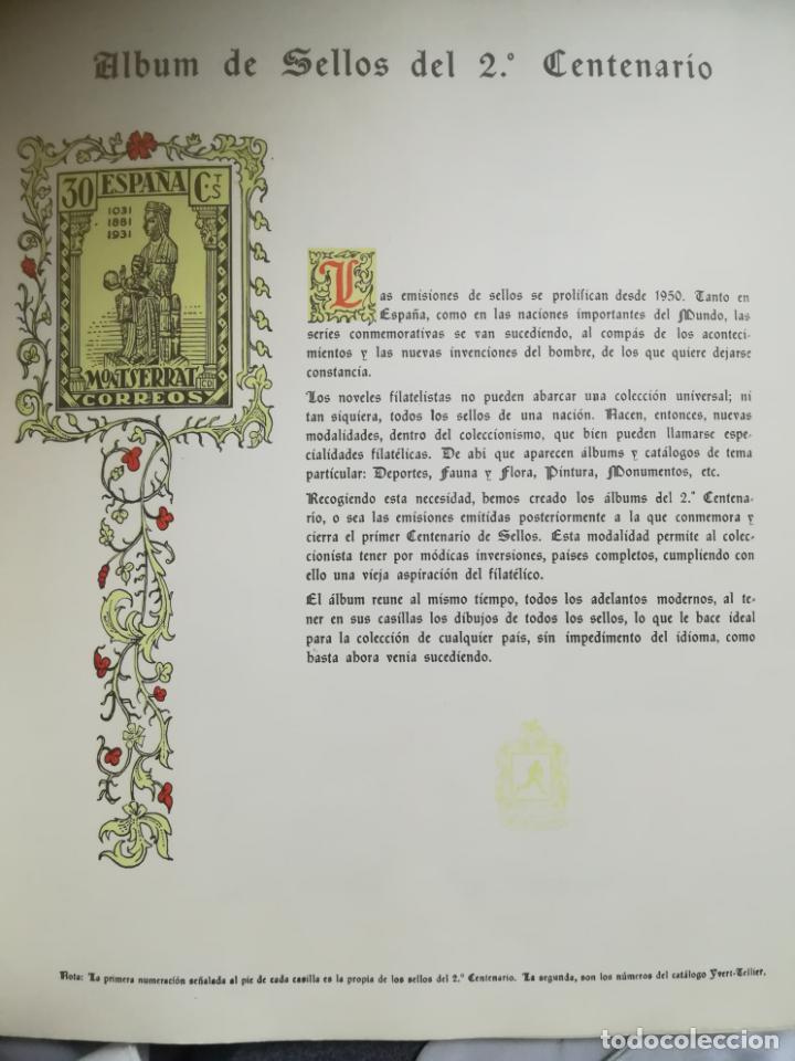 Sellos: ALBUM DE SELLOS. II CENTENARIO. A.OLEGARIO. ESPAÑA. 1974 -1982. SIN FIJASELLOS. EL DE LA FOTOS - Foto 2 - 216529878