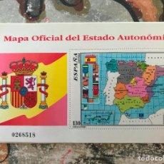 Sellos: ESPAÑA SPAIN 3460 1996 MAPA OFICIAL DEL ESTADO AUTONÓMICO, LUJO MNH. Lote 216893203