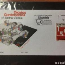 Sellos: ESPAÑA 2006 SOBRE PRIMER DÍA DIARIOS CENTENARIOS EL NORTE DE CASTILLA EDIFIL SPD 4233. Lote 216936670