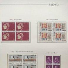 Sellos: HOJAS EDIFIL AÑO 1992 EN BLOQUE DE 4. SUPLEMENTO EDIFIL ESPAÑA 1992 MONTADO EN TRANSPARENTE HEB90. Lote 201152231