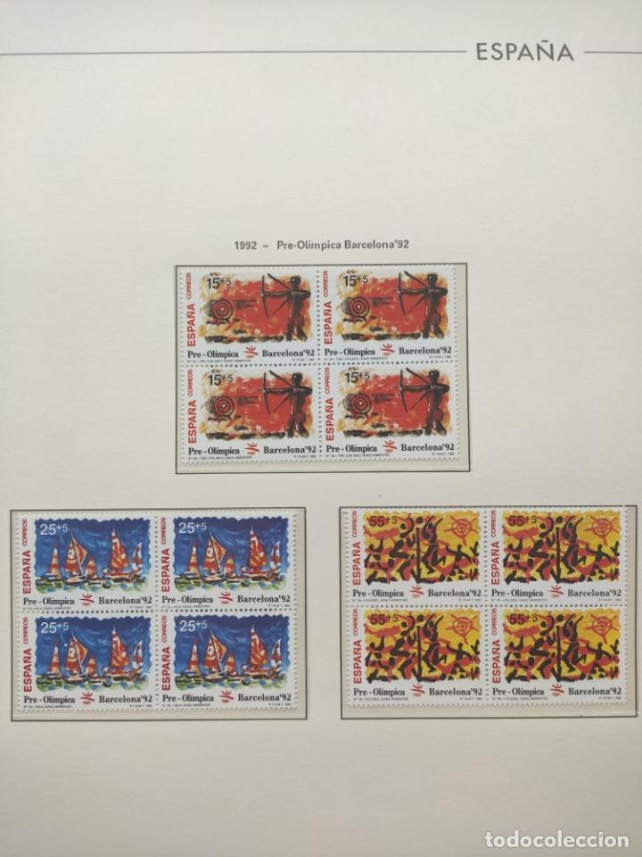 Sellos: Hojas Edifil año 1992 en bloque de 4. Suplemento Edifil España 1992 montado en transparente HEB90 - Foto 3 - 201152231