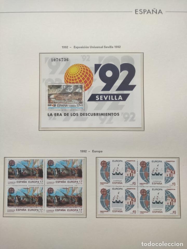 Sellos: Hojas Edifil año 1992 en bloque de 4. Suplemento Edifil España 1992 montado en transparente HEB90 - Foto 6 - 201152231
