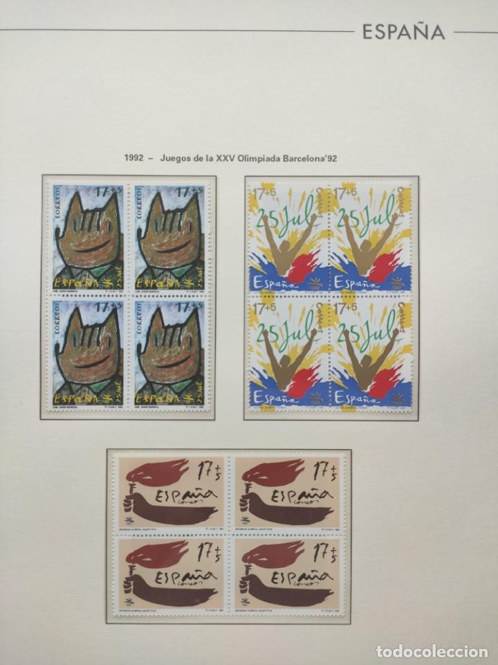Sellos: Hojas Edifil año 1992 en bloque de 4. Suplemento Edifil España 1992 montado en transparente HEB90 - Foto 11 - 201152231
