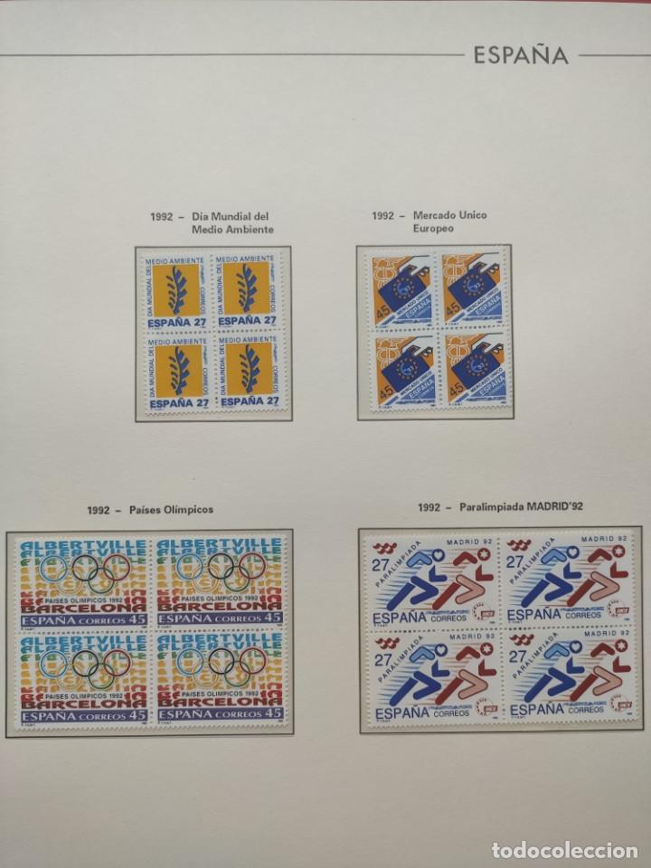 Sellos: Hojas Edifil año 1992 en bloque de 4. Suplemento Edifil España 1992 montado en transparente HEB90 - Foto 13 - 201152231