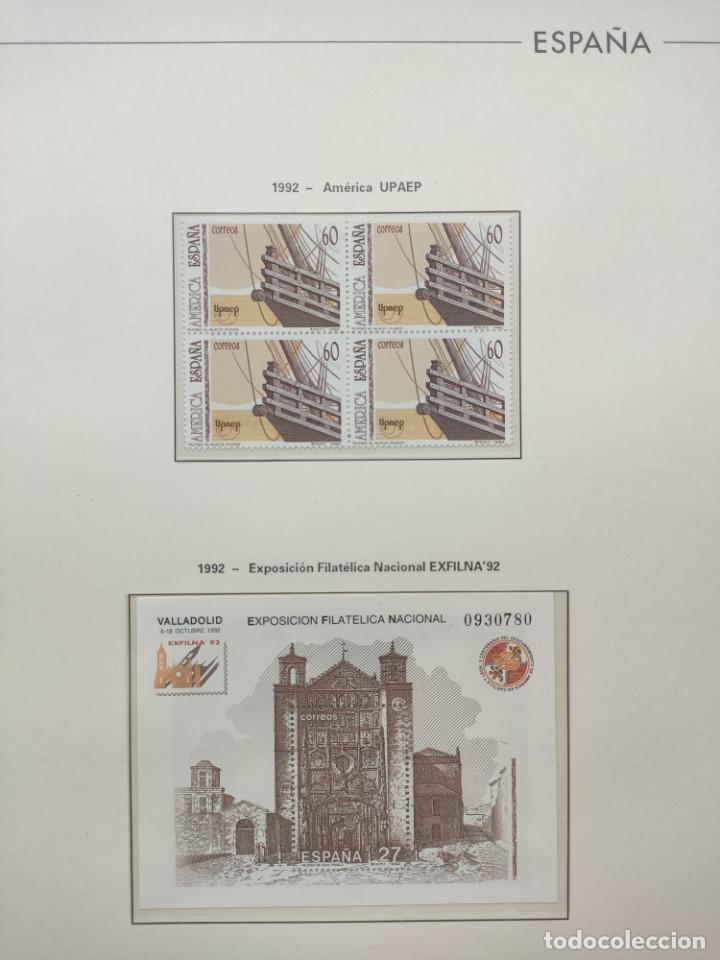 Sellos: Hojas Edifil año 1992 en bloque de 4. Suplemento Edifil España 1992 montado en transparente HEB90 - Foto 14 - 201152231