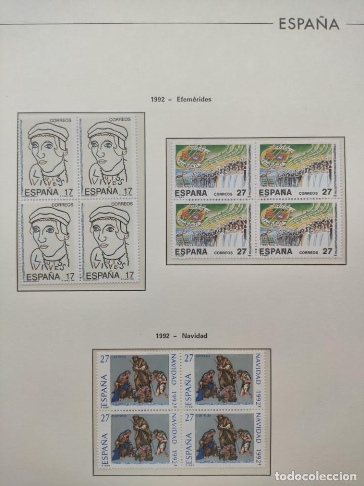 Sellos: Hojas Edifil año 1992 en bloque de 4. Suplemento Edifil España 1992 montado en transparente HEB90 - Foto 16 - 201152231