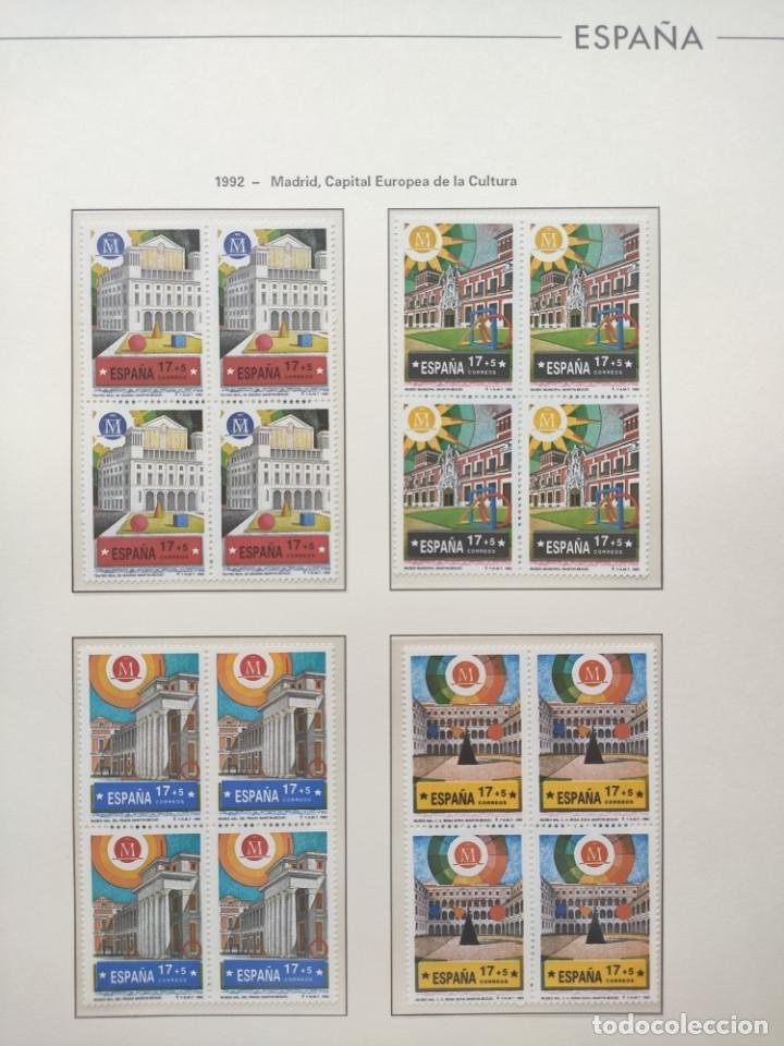 Sellos: Hojas Edifil año 1992 en bloque de 4. Suplemento Edifil España 1992 montado en transparente HEB90 - Foto 17 - 201152231