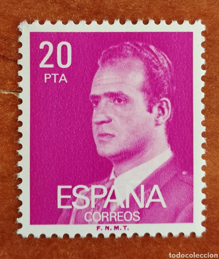 ESPAÑA, N°2396P. REY FLUOR MNH (FOTOGRAFÍA REAL) (Sellos - España - Juan Carlos I - Desde 1.986 a 1.999 - Nuevos)