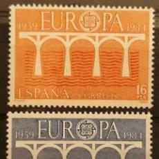 Sellos: ESPAÑA,N°2756/57 MNH, EUROPA CEPT 1984 MNH (FOTOGRAFÍA ESTÁNDAR). Lote 217034182