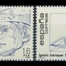 Sellos: ESPAÑA, N°2759/60 MNH, CENTENARIOS 1984 (FOTOGRAFÍA REAL). Lote 263171910