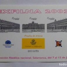Sellos: HOJITA PRUEBA - 2002. Lote 217173396
