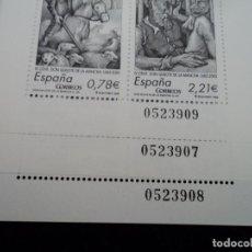 Sellos: TRES HOJITAS IV CENTENARIO DE LA PUBLICACIÓN DE DON QUIJOTE DE LA MANCHA. Lote 103125987