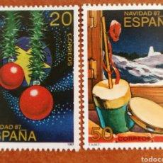 Sellos: ESPAÑA, N°2925/26 MNH, NAVIDAD 1987 (FOTOGRAFÍA REAL). Lote 217232496