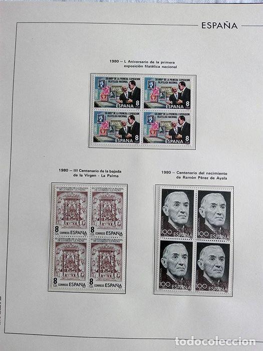 Sellos: España años 1979 1980 1981 1982 1983 en bloque de 4 con Album y Hojas Edifil HEBS70 HEBS80 EBY - Foto 65 - 217278347