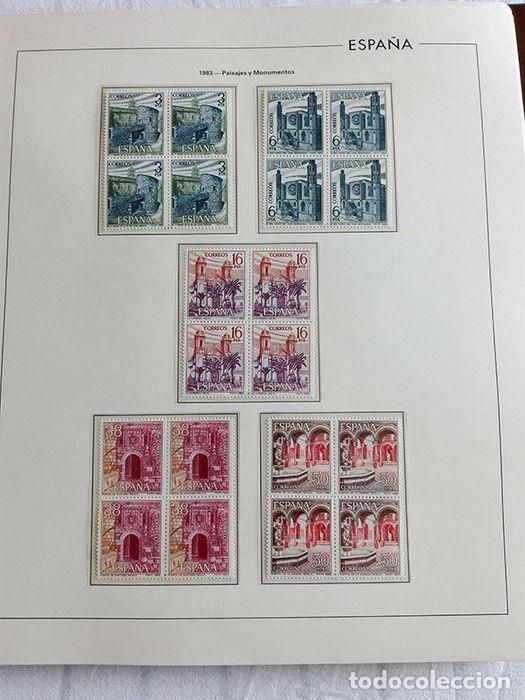 Sellos: España años 1979 1980 1981 1982 1983 en bloque de 4 con Album y Hojas Edifil HEBS70 HEBS80 EBY - Foto 6 - 217278347